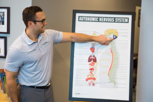 Dr. Tom presenting on the autonomic nervous system